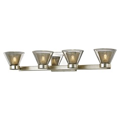 Troy Lighting Wink Silver Leaf LED Bathroom Light