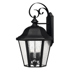 LED Seeded Glass Outdoor Wall Light Black 25.5-Inches Tall by Hinkley Lighting
