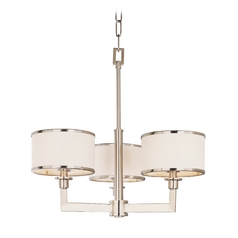 Mid-Century Modern Mini-Chandelier Satin Nickel Nexus by Maxim Lighting