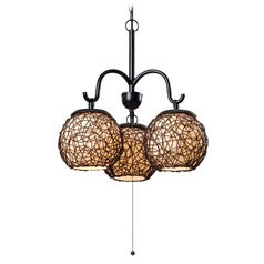 Kenroy Home Lighting Castillo Bronze Outdoor Chandelier