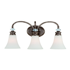 Jeremiah Boulevard Mocha Bronze, Silver Accents Bathroom Light