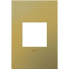 Legrand Adorne Brushed Brass 1-Gang Switch Plate