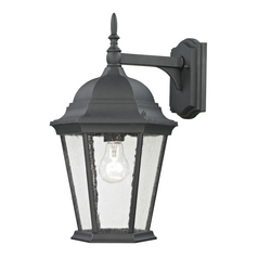 Cornerstone Lighting Temple Hill Matte Textured Black Outdoor Wall Light