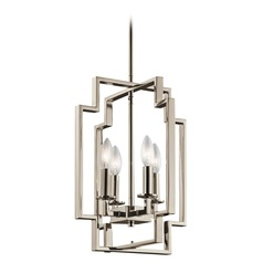 Kichler Lighting Downtown Deco Polished Nickel Pendant Light