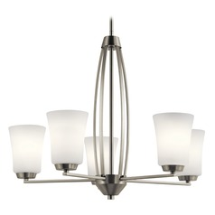 Transitional Chandelier Brushed Nickel Tao by Kichler Lighting