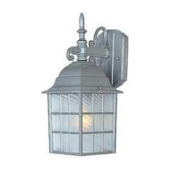 Maxim Lighting Outdoor Wall Light with Clear Glass in Pewter Finish 1051PE