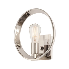 Modern Sconce Wall Light in Imperial Silver Finish