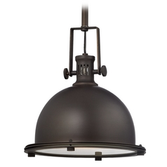 Bronze Nautical Mini-Pendant Light - 10-1/2-Inches Wide