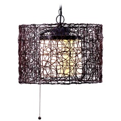 Kenroy Home Lighting Tanglewood Black Outdoor Hanging Light