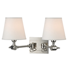 Hudson Valley Lighting Hillsdale Polished Nickel Swing Arm Lamp