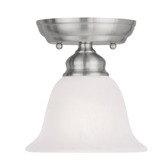 Livex Lighting Essex Brushed Nickel Semi-Flushmount Light