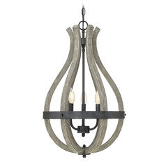 Weathered Birch Chandelier Carrolton Collection by Savoy House