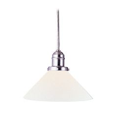 Hudson Valley Lighting Mini-Pendant Light with White Glass 3101-SN-M9