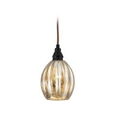 Mini-Pendant Light with Mercury Glass