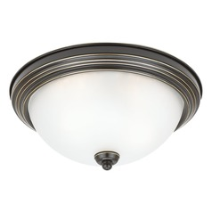 Sea Gull Lighting Ceiling Flush Mount Heirloom Bronze LED Flushmount Light