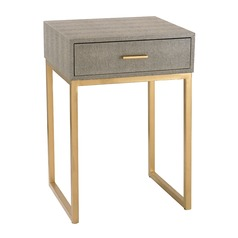 Shagreen Side Table in Grey