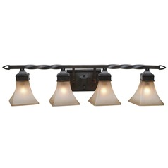 Golden Lighting Genesis Roan Timber Bathroom Light