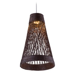 Maxim Lighting Bahama Chocolate LED Mini-Pendant Light with Bowl / Dome Shade