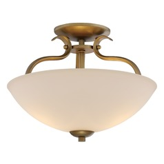 Nuvo Lighting Dillard Natural Brass Semi-Flushmount Light