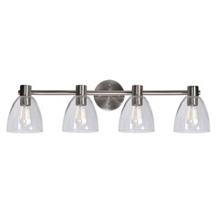 Kenroy Home Edis Brushed Steel Bathroom Light