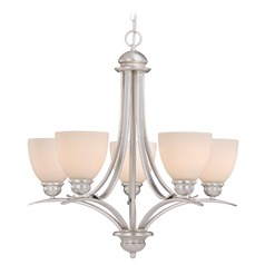 Avalon Brushed Nickel Chandelier by Vaxcel Lighting