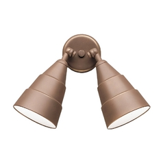 Kichler 2-Light Outdoor Spotlight in Bronze Finish