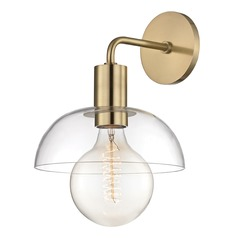 Kyla Aged Brass Sconce Mitzi by Hudson Valley