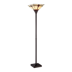 Lite Source Lighting Karysa Bronze Torchiere Lamp with Square Shade