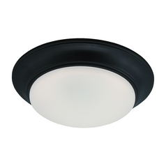 LED Flushmount Light with White Glass in Oil Rubbed Bronze Finish