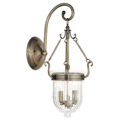 Livex Lighting Coventry Antique Brass Sconce