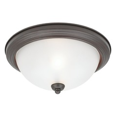Sea Gull Lighting Ceiling Flush Mount Misted Bronze LED Flushmount Light