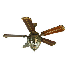 Craftmade Lighting Olivier Aged Bronze Textured Ceiling Fan with Light