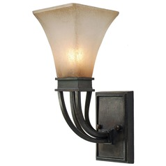 Golden Lighting Genesis Roan Timber Sconce
