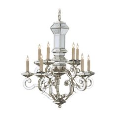Chandelier in Harlow Silver Leaf Finish