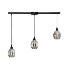 Multi-Light Pendant Light with Mercury Glass and 3-Lights