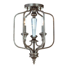 Craftmade Boulevard Mocha Bronze, Silver Accents Semi-Flushmount Light
