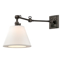 Hudson Valley Lighting Hillsdale Old Bronze Swing Arm Lamp