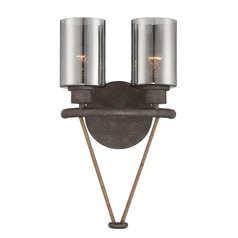 Hammered Mercury Glass Sconce Bronze Savoy House