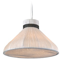 PLC Lighting Nepro Ivory Pendant Light with Bowl / Dome Shade