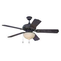 Craftmade Lighting Outdoor Mia Aged Bronze/vintage Madera Ceiling Fan with Light