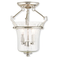 Livex Lighting Cortland Polished Nickel Semi-Flushmount Light