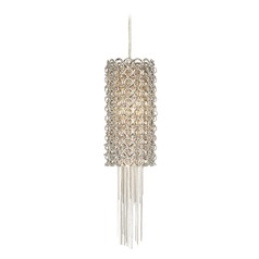 Elan Lighting Elauna Brushed Nickel Mini-Pendant Light with Cylindrical Shade
