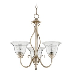 Quorum Lighting Spencer Aged Silver Leaf Mini-Chandelier