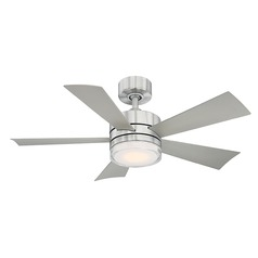 Modern Forms Stainless Steel 42-Inch LED Smart Ceiling Fan 1600LM 3000K