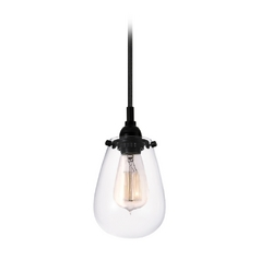 Vintage Mini-Pendant Light with Clear Glass