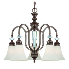 Craftmade Boulevard Mocha Bronze, Silver Accents Chandelier