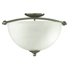 Quorum Lighting Hemisphere Satin Nickel Semi-Flushmount Light