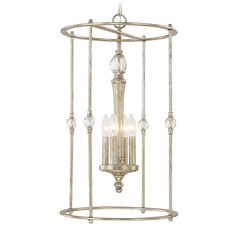 Capital Lighting Carlyle Gilded Silver Pendant Light