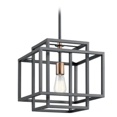 Kichler Lighting Taubert Black Pendant Light