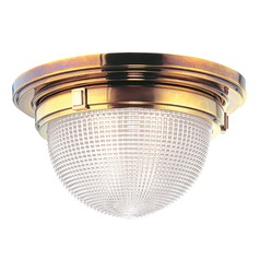 Industrial Flushmount Light Brass Winfield by Hudson Valley Lighting